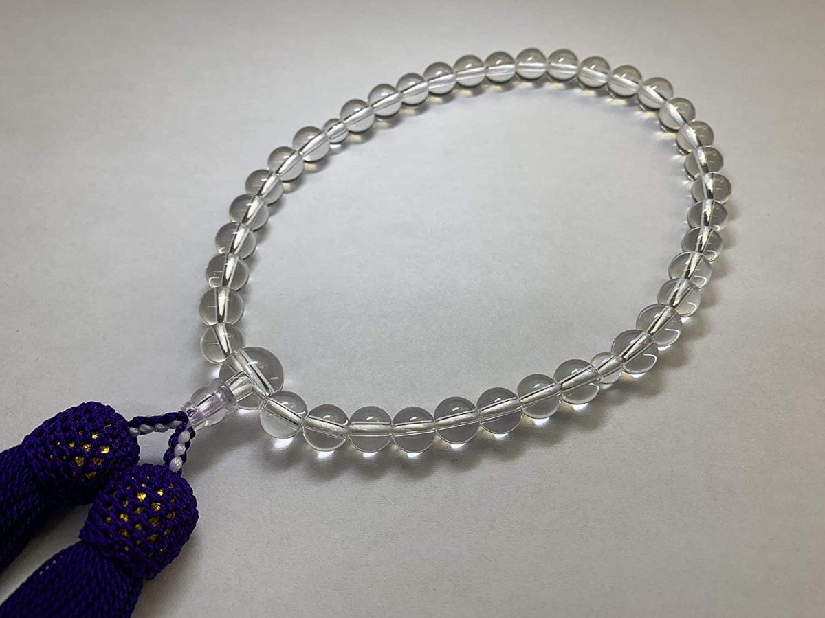 数珠 女性用 本水晶 7ミリ