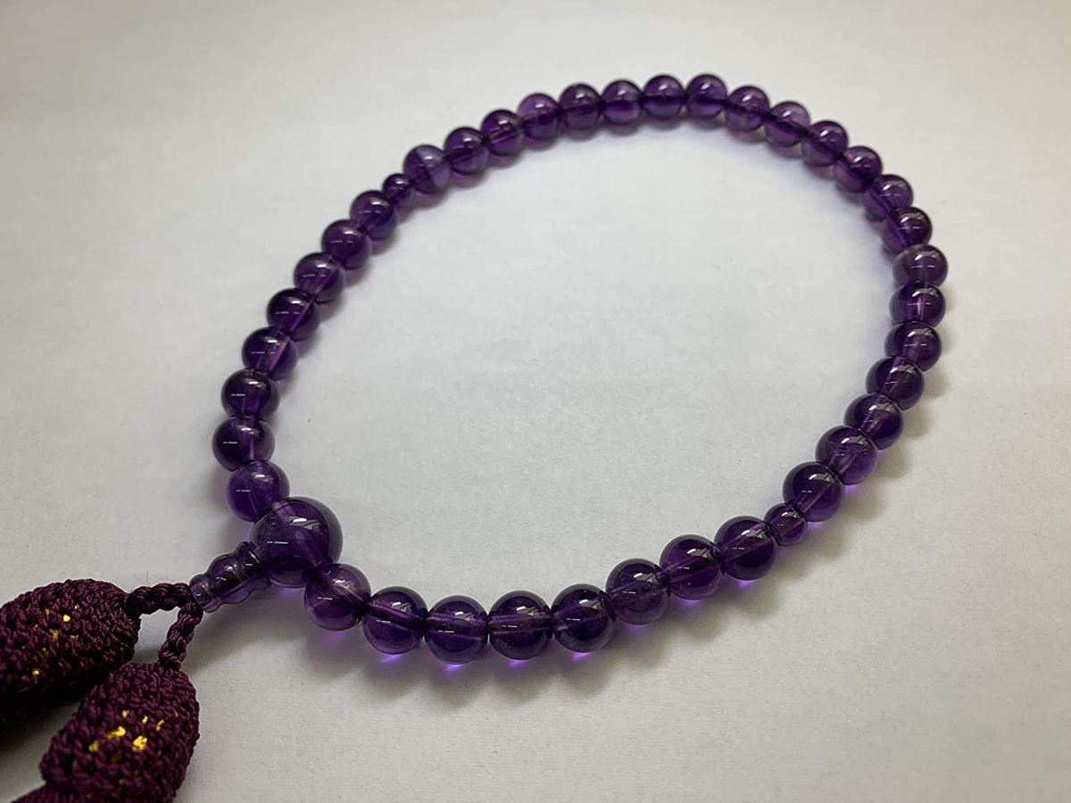 数珠 女性用 紫水晶 7ミリ