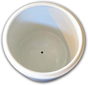 白 切立 / 7寸 / シンプル 骨壷 骨壺/水抜き穴