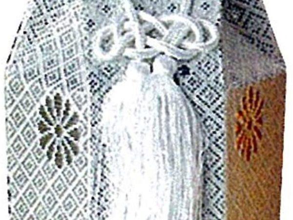 広金 分骨袋 / 銀 / 2寸、2.3用 / 骨覆 骨壷 カバー / 直葬 家族葬 分骨 手元供養 納骨 ペット