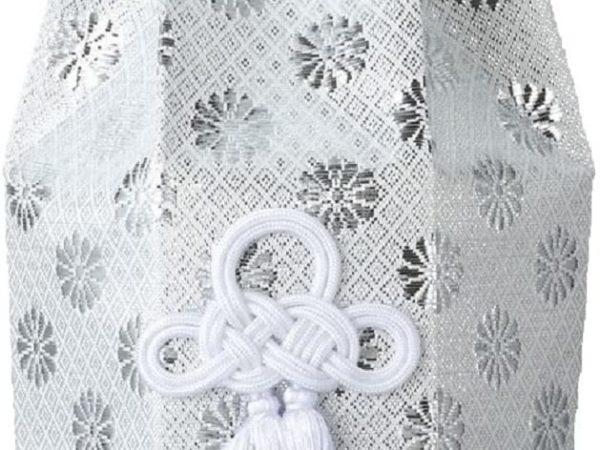 広金 分骨袋 / 銀 / 4寸用 / 骨覆 骨壷 カバー