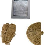 【セット品】納棺3点セット(仏衣、編笠、草鞋)/葬儀 納棺用
